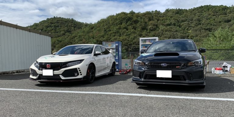 Type R and WRX STI in Central Circuit