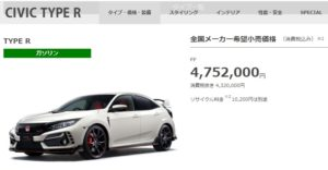 The price of minor changed FK8